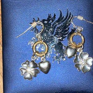 Stunning mixed metal earrings